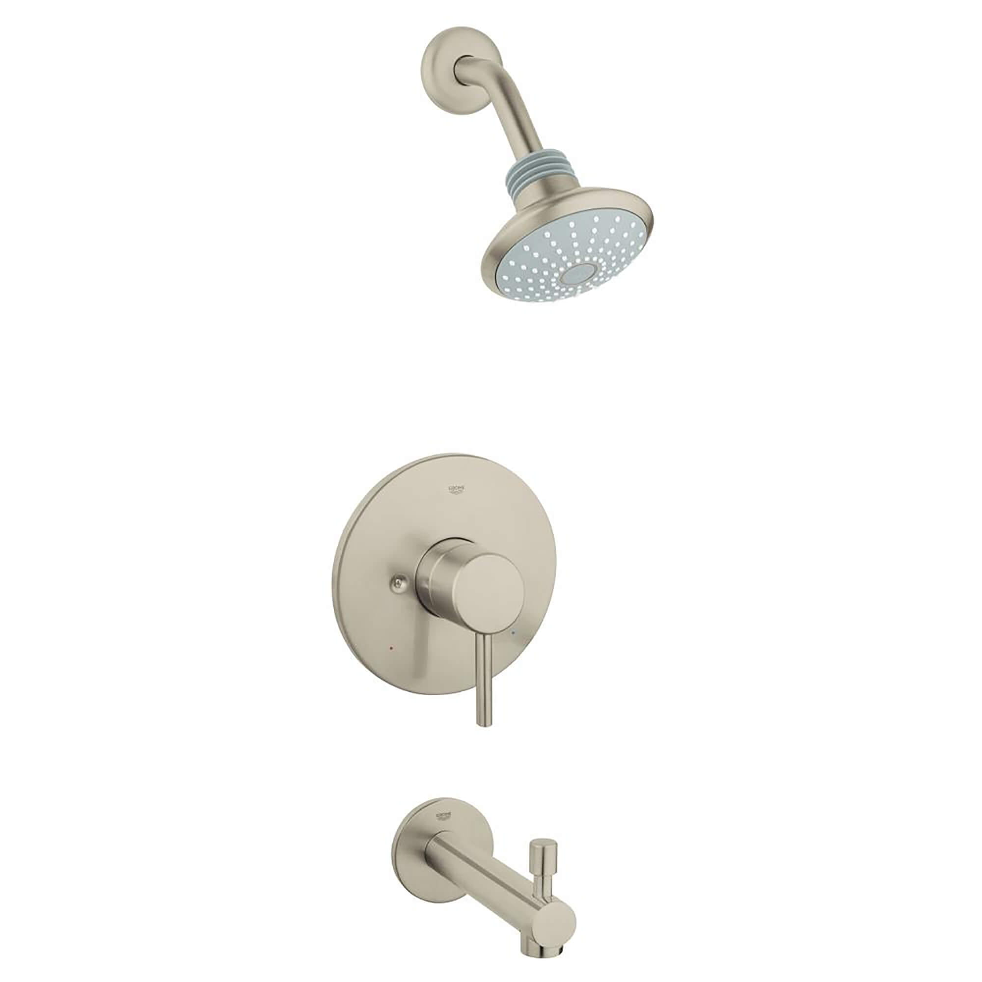 Concetto Single Handle Single Spray Tub And Shower Faucet Combination