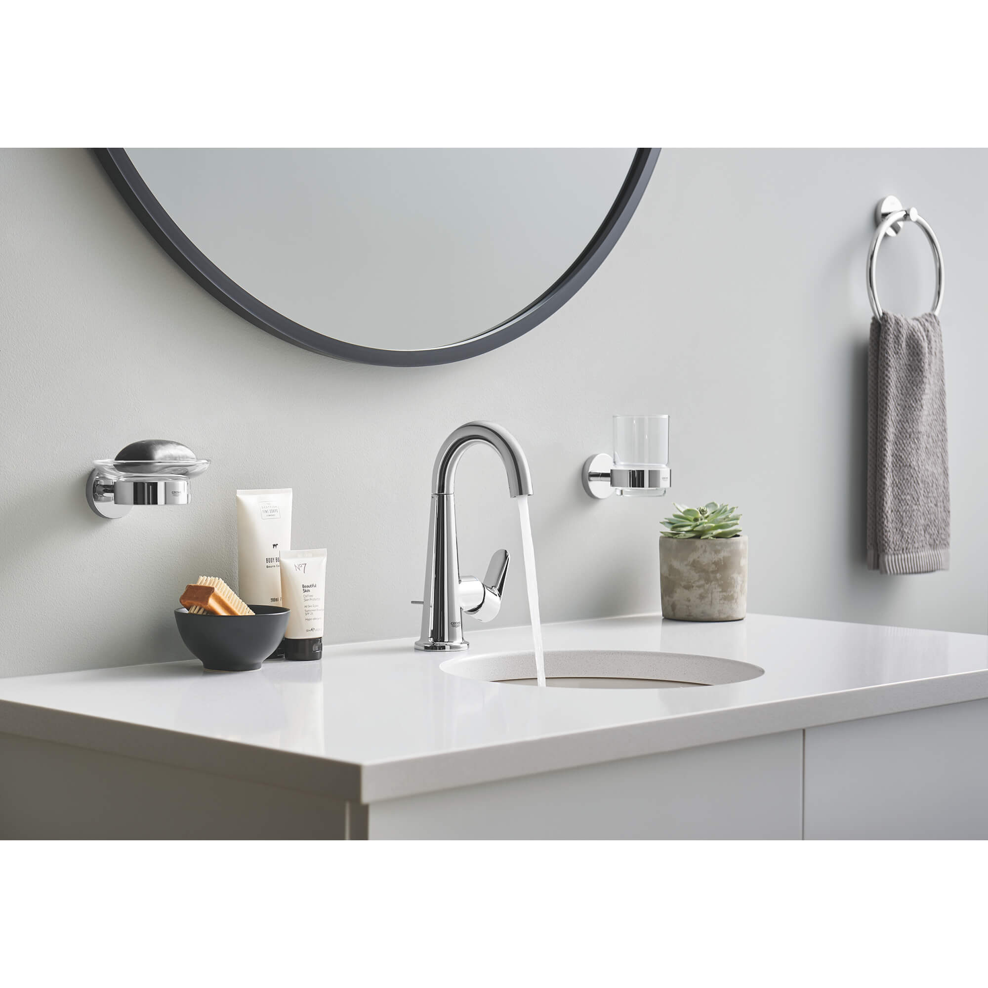 Glass with Holder GROHE CHROME