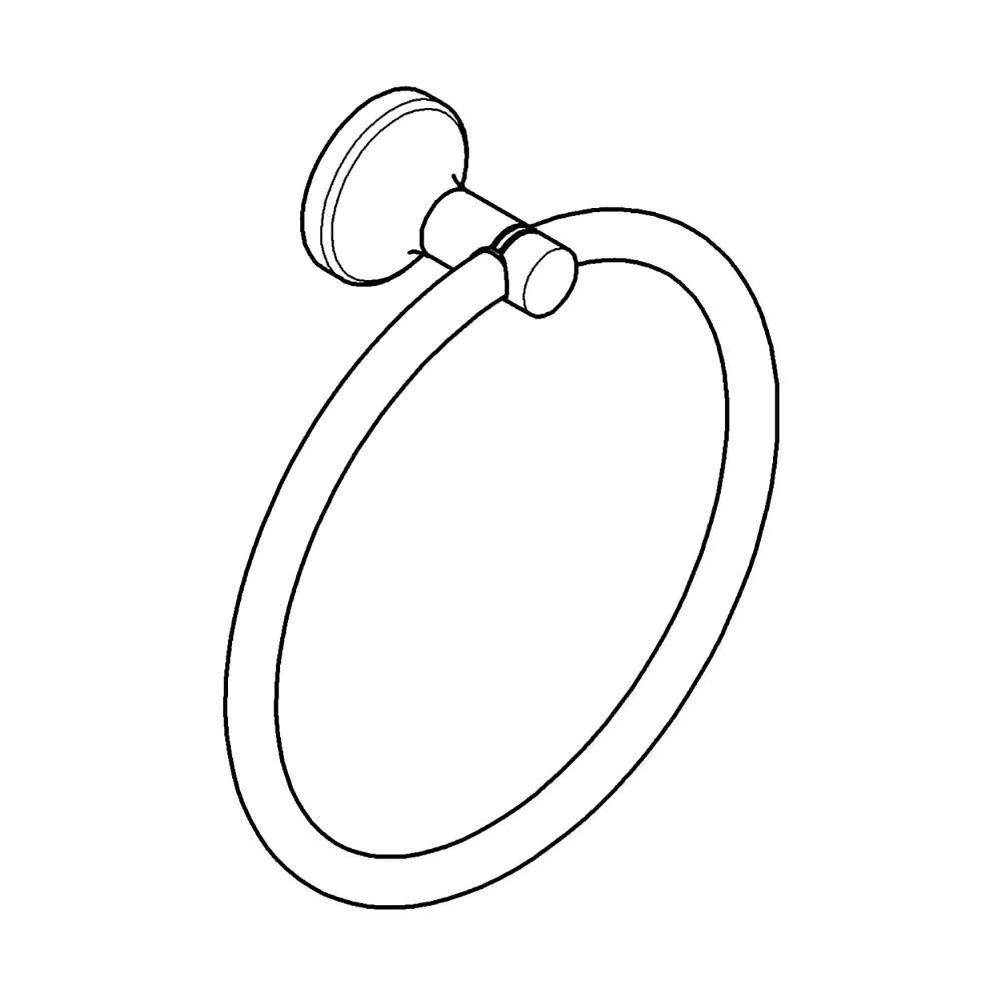 Agira Towel Ring GROHE BRUSHED NICKEL