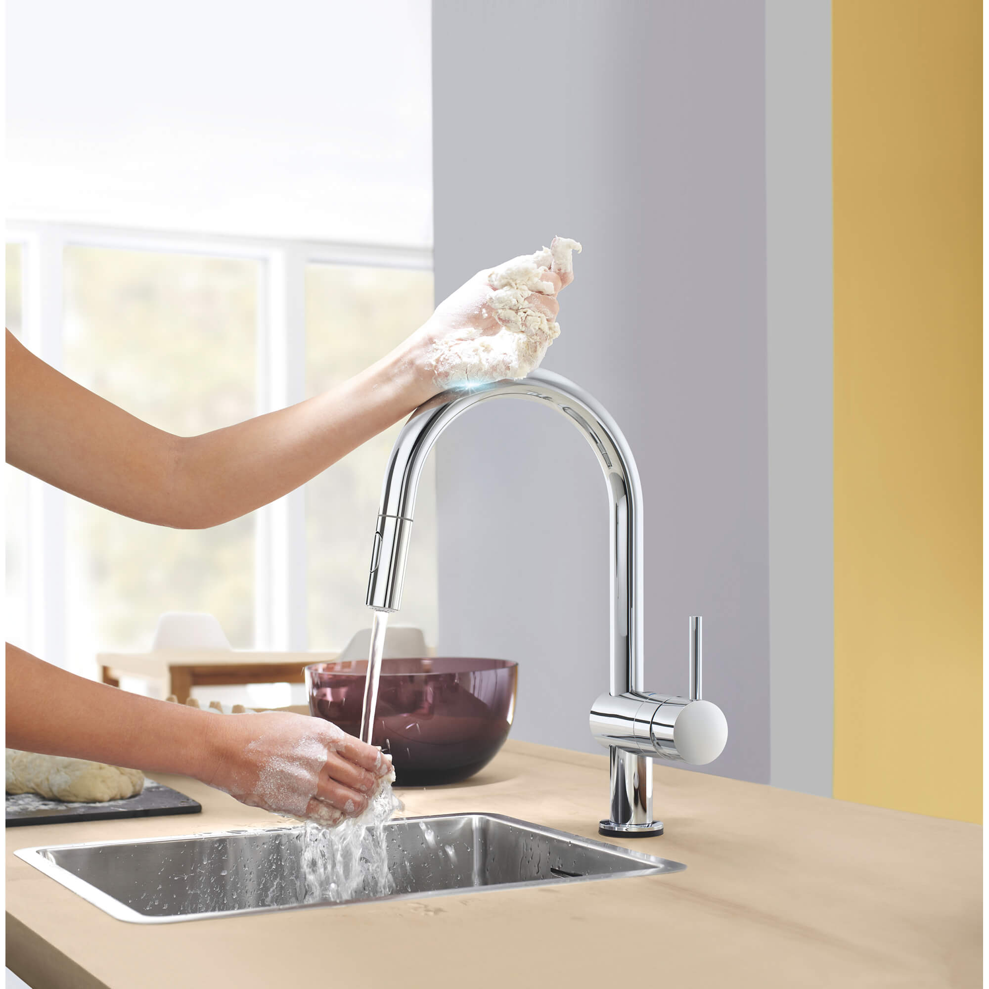 Grohe Pull Down Kitchen Faucet W Additional Touch Operated S