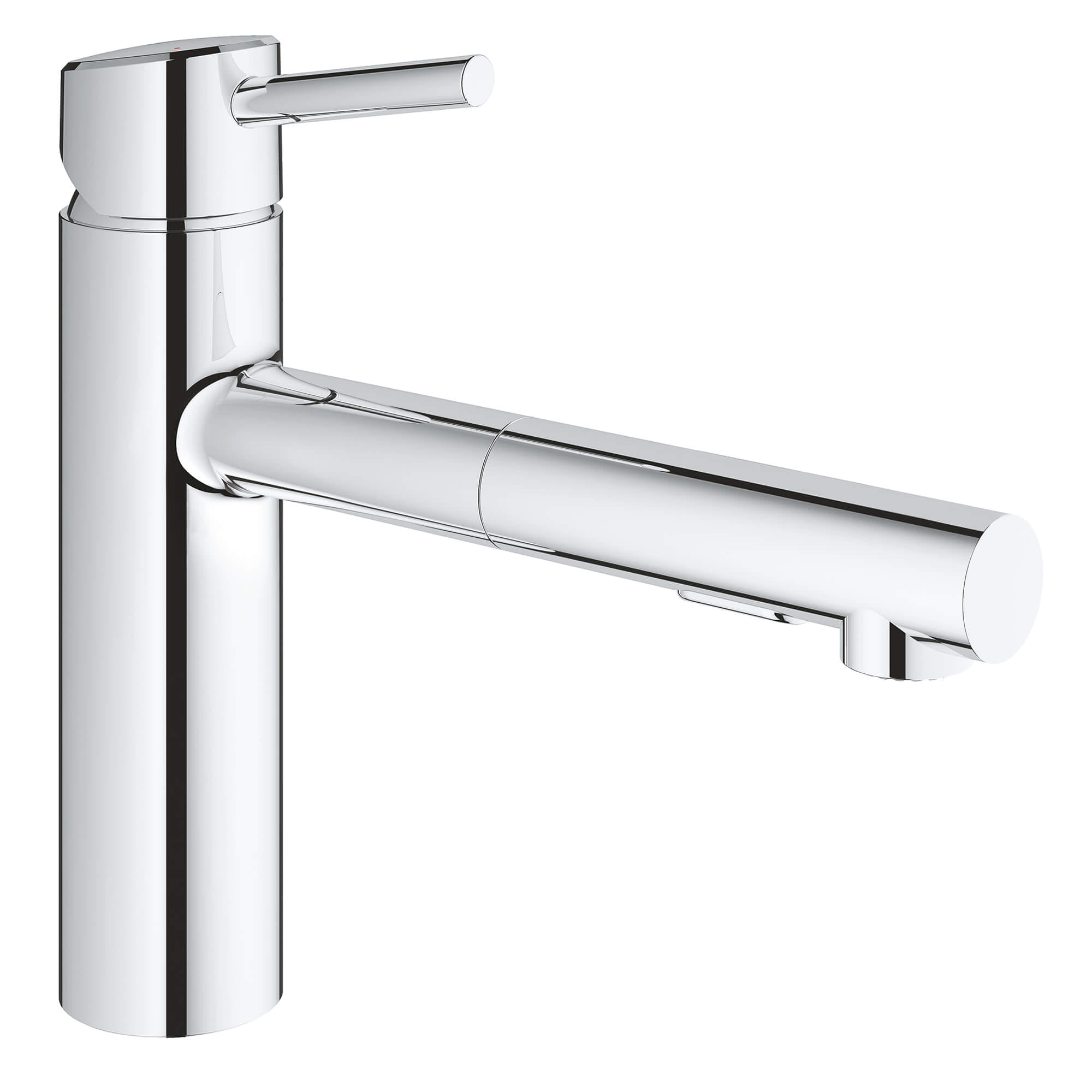 Single Handle Pull Out Kitchen Faucet Dual Spray 15 GPM GROHE CHROME