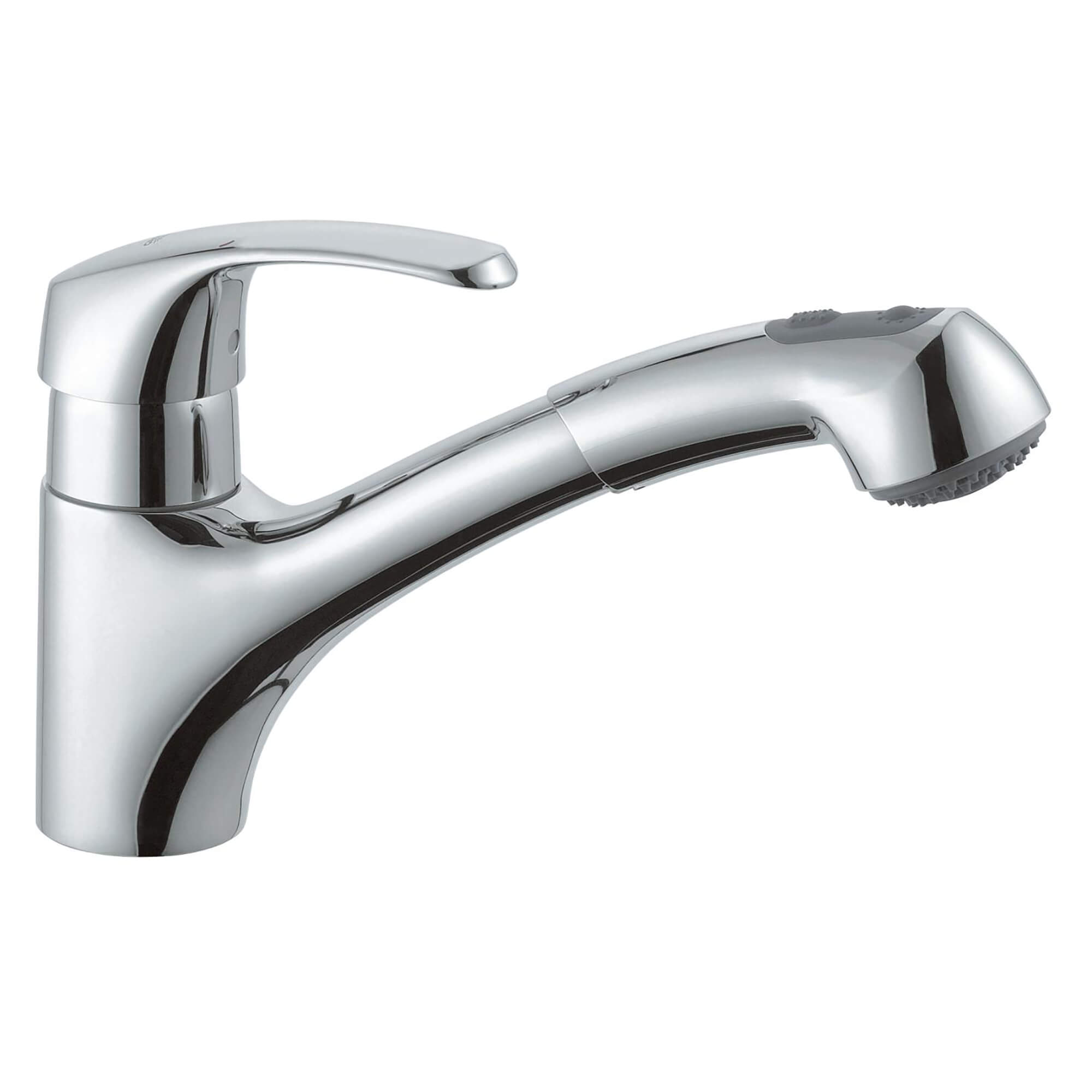 Single Handle Pull Out Kitchen Faucet Dual Spray 175 GPM GROHE CHROME