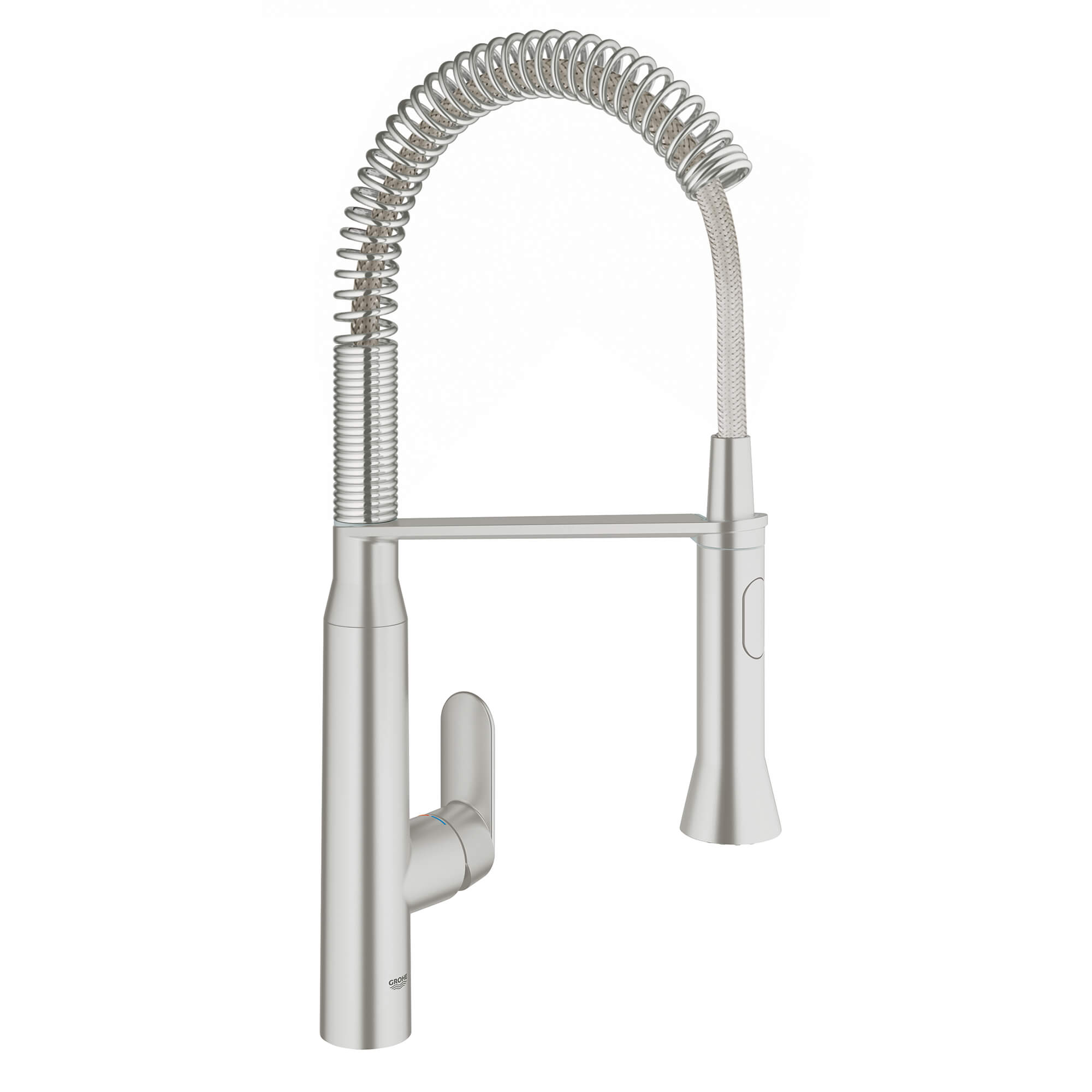 Single Handle Semi Pro Dual Spray Kitchen Faucet 175 GPM with Foot Control GROHE SUPERSTEEL