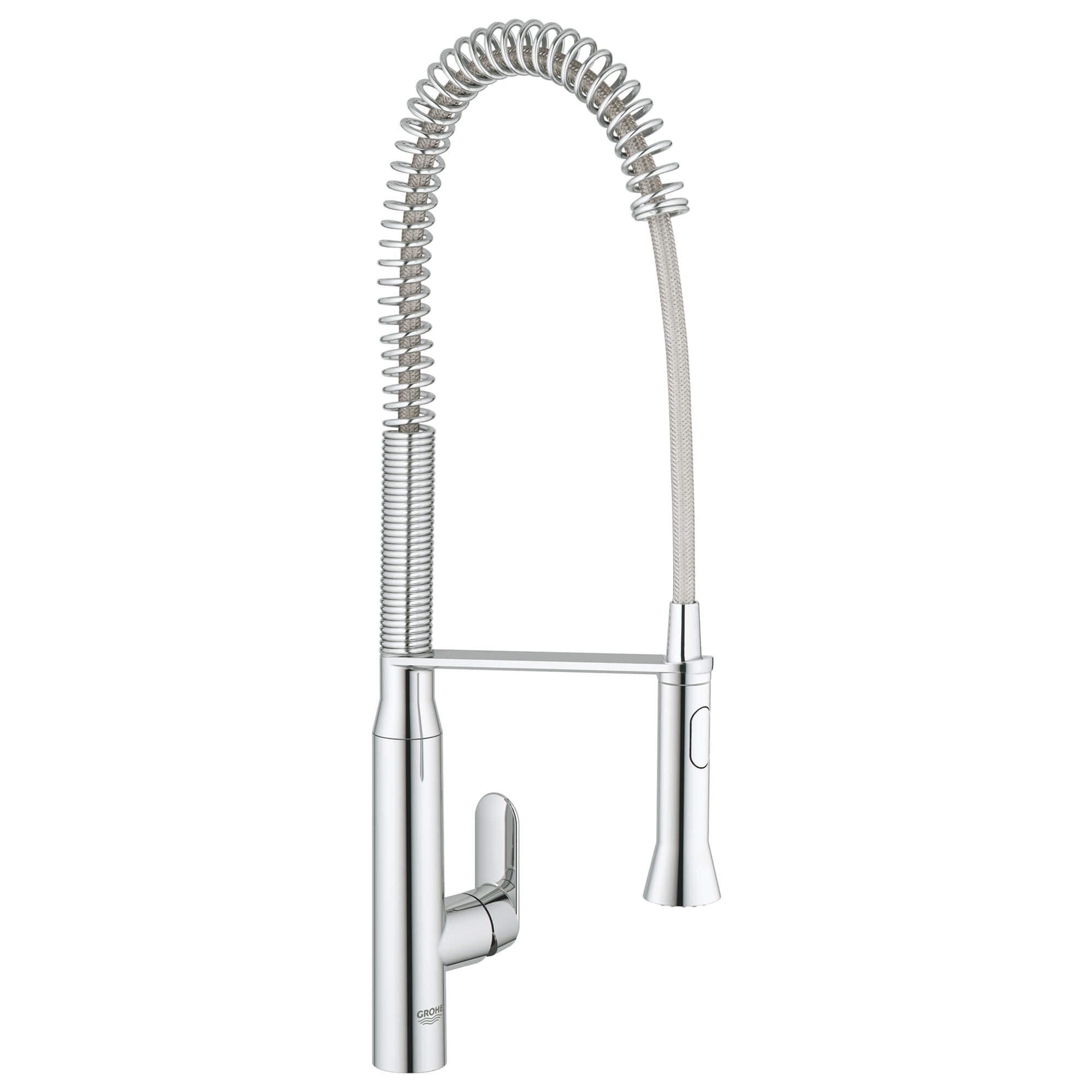 Single Handle Semi Pro Dual Spray Kitchen Faucet 175 GPM GROHE CHROME